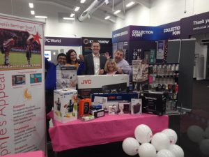 PC World reopening raffle 18.12.16 Sophies Appeal