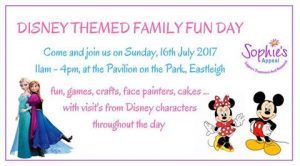 Sophies Appeal Disney themed family fun day
