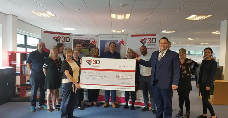 3D Personnel raise money for Sophie's Appeal