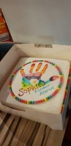 Cake for Sophie's retreat