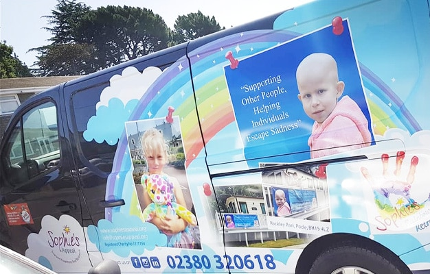 Sophie's Appeal mobile signwritten